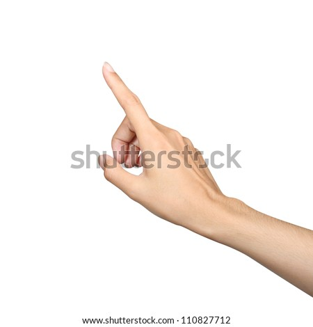 finger point isolated white background - Shutterstock ID 110827712