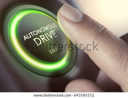 finger pressing a push button...