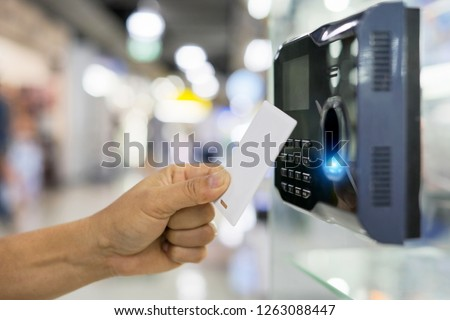Finger print and key card scan for enter security system