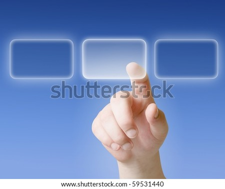 finger push on touchscreen button