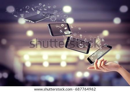 Finger ready smartphone concept E-commerce business