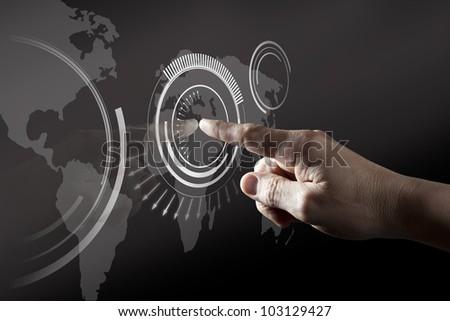 Finger Touching  Black Digital Touch Screen