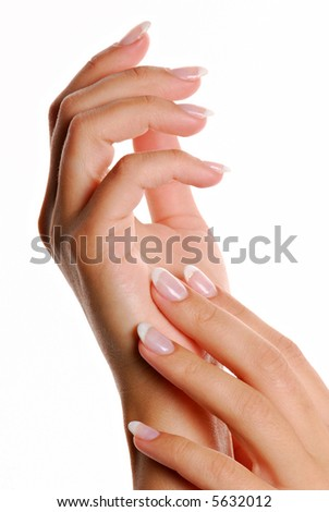 Fingernail.  Manicure and Gesturing.
