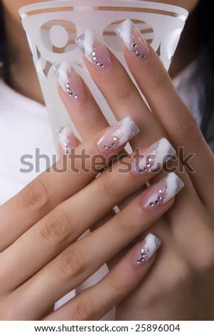 fingernails and glass
