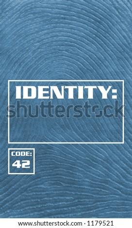 Fingerprint Background - Identity Theft