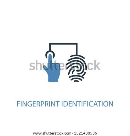 fingerprint identification concept 2 colored icon. Simple blue element illustration. fingerprint identification concept symbol design. Can be used for web and mobile UI/UX