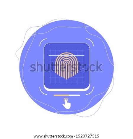Fingerprint Identification icon for Mobile