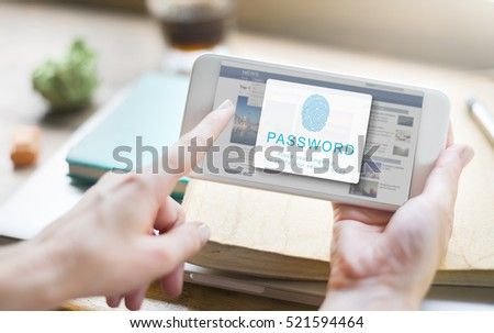 Fingerprint Password Biometrics Technology   #521594464