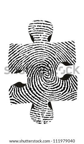 Fingerprint Puzzle Piece