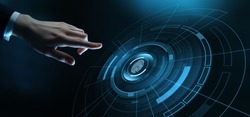 Fingerprint Scan Business Technology Safety Internet Concept