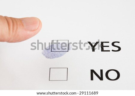 fingerprint(thumbprint) in a checkbox of the approved.