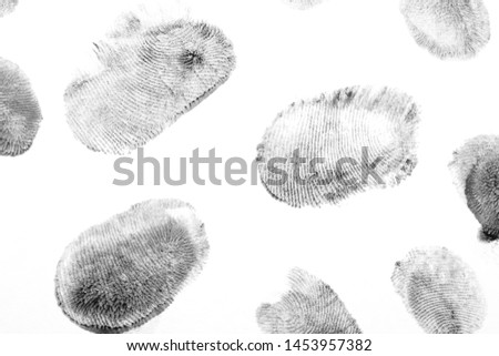 Fingerprints.Background with fingerprints.Black fingerprint on white background. #1453957382