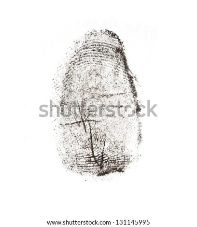 fingerprints on a white background
