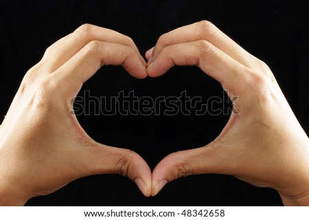 Fingers Love Symbol #48342658