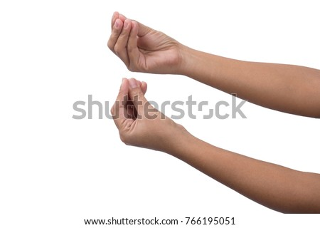 Fingers together , hand gesture #766195051