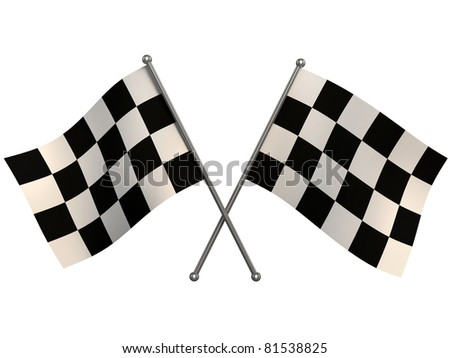 finish flags - stock photo