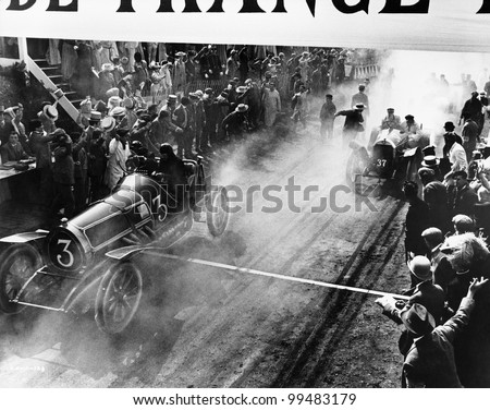 finish line at auto race