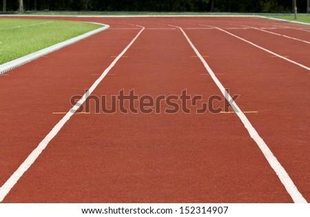 Finish line Running track
