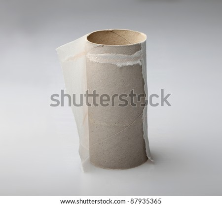 Finished toilet paper roll