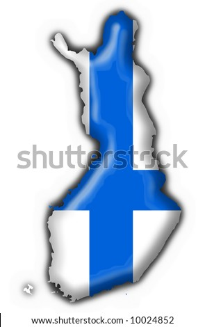 finland button flag map shape