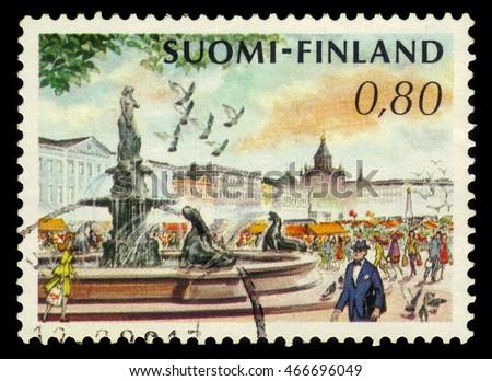 finland   circa 1976  a stamp...