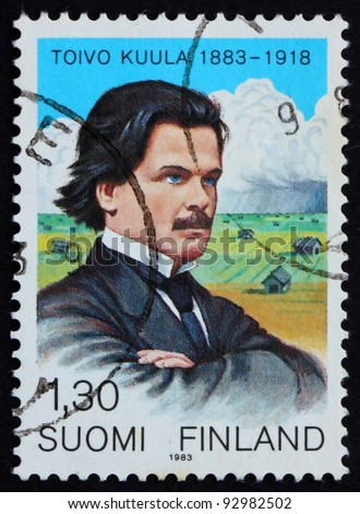 FINLAND - CIRCA 1983: a stamp printed in the Finland shows Toivo Kuula, Composer and Conductor, circa 1983