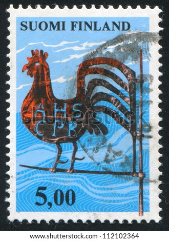 FINLAND - CIRCA 1975: stamp printed by Finland, shows Kirvu Weather Vane, circa 1975