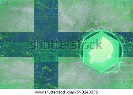 Finland ecology. Ecology defense concept. #590243195