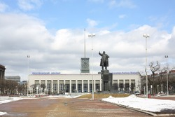 Finlyandsky railway station and monument to Vladimir Lenin, St. Petersburg, Russia