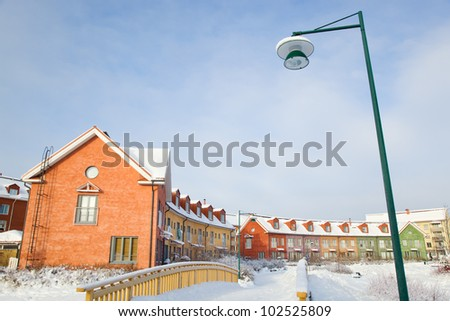 Finnish suburban in winter