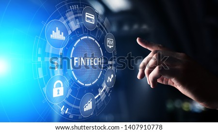 Fintech Financial technology Cryptocurrency investment and digital money. Business concept on virtual screen. Foto stock ©