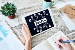 FIntech - Financial technology, internet payment and digital money concept.