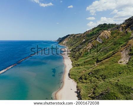 Fiorenzuola di Focara view from above, Marche region in Italy, Parco Naturale Monte San Bartolo  Foto d'archivio ©