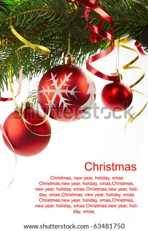 fir-tree xmas, text congratulation