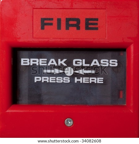 Fire alarm break glass  trigger
