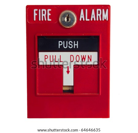 Fire alarm isolated over a white background