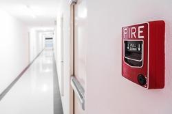 Fire Alarm near door fire exit .