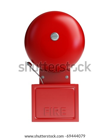 fire alarm on a white background