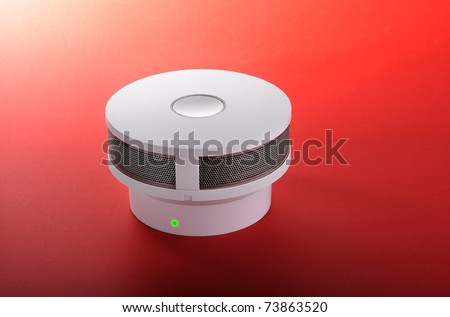 Fire alarm with green light signal (smoke detector)