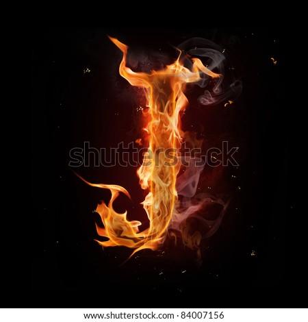 J Logo Fire Fire Alphabet Letter &...