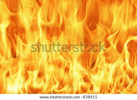 stock photo : Fire and flames background ( Huge high res file )