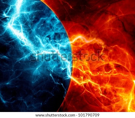 Fire and Ice Ball Invitations http://www.shutterstock.com/pic-101790709/stock-photo-fire-and-ice-abstract-fractal-lightning.html