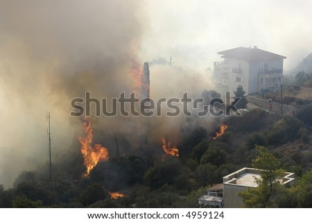 Fire at the island of samos, greece 2007