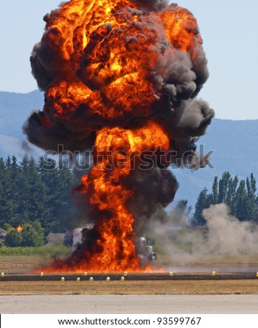 Fire Bomb Drop, Airshow Demonstration, Canada