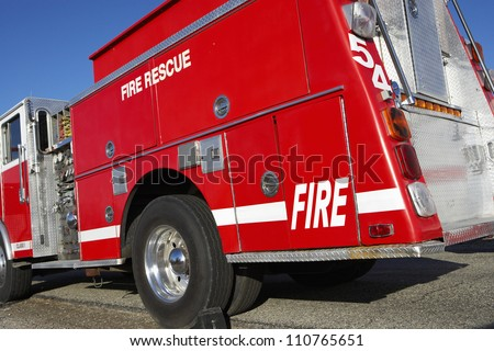 Fire brigade on road