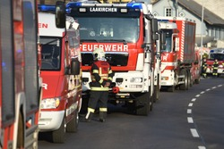 Fire brigade vehicles in the Salzkammergut (Upper Austria)