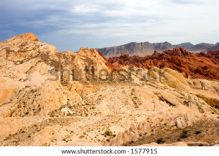 Fire Canyon and Silca Dome Valley of Fire State Park Overton Nevada