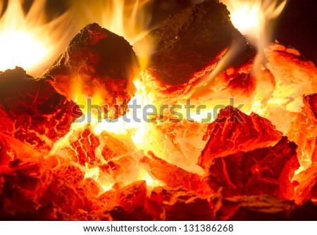 Fire coals #131386268