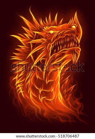 Fire dragon head