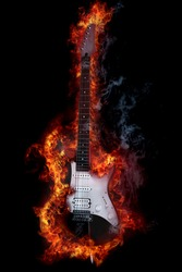 Fire electronic guitar